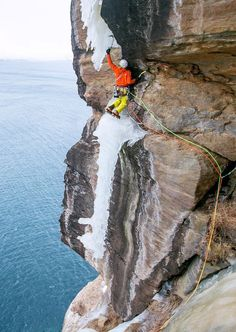 Terrifying Ice Climbs From the Past…                                                                                                                                                                                 More