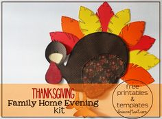 such a cute family home evening kit for thanksgiving (gratitude, blessings, etc.)! free printables and templates to make your own!