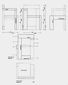 rietveld furniture design construction woodworking the style bauhaus eam Diy Furniture Projects, Furniture Plans, Wood Furniture, Furniture Design, Diy Sofa, Diy Chair, Bauhaus, Rietveld Chair, Wood Plans
