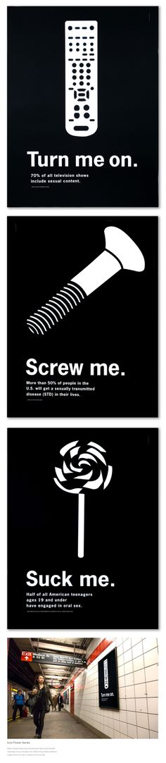 Marielle Gross Icon Poster Series Many unassuming words and phrases have sexual double meanings in our everyday lives. Below the phrases statistics support how sex has an impact on our society.