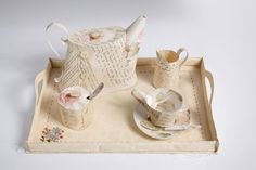Paper Tea set with tray | Jennifer Collier