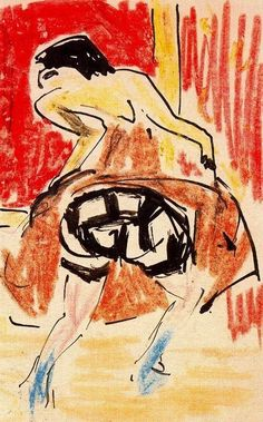 """""""French Dancer,"""" 1909, Ernst Ludwig #Kirchner.PinIt : Anónimo de Piedra"""