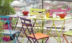 moderne stilvolle Garten Möbel Metall bunt originell kreativ super cool