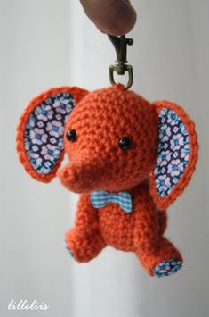 Tiny amigurumi elephants