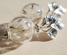 Dandelion earrings Nature earrings  Dandelion Seed Earrings