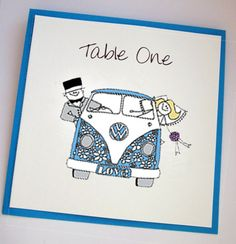 Campervan Wedding Table Names