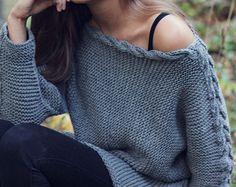 TRICOT MODÈLE automne tricot côtelé pull par KatrineHDesigns