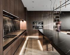 Küchen Design, House Design, Architecture Visualization, Interior Concept, Adobe Photoshop Lightroom, Interior Design Kitchen, Interior Architecture, Behance, Distance