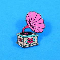 Retro Record Player Pin by Abby Galloway