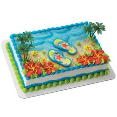 Raleys - Flip Flop cake - $56.99 full sheet w/ filling serves 75