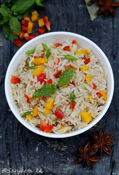 Recipe | Quick Fried Rice with Capsicum and Almonds