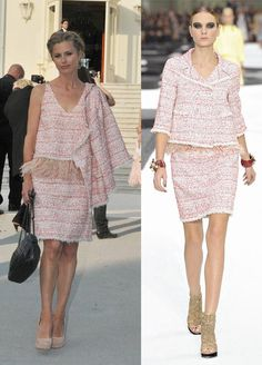Just bought this in Charleston SC. Laura-Bailey-Chanel-2011-spring-and-summer-ready-to-wear-pink-feather-tweed-suit