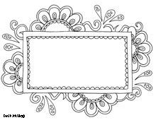 Free Printable Coloring Page Templates From Doodle Art Alley One Of Several Frames Choices To Enclose