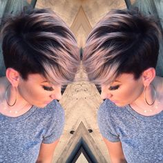 Adorable Pixie Haircut Ideas with Bangs Pastels Short Hairstyles – Undercut with Short Hair – Pixie Hairstyles with smokey pink hair Undercut Hairstyles, Pixie Hairstyles, Short Hairstyles For Women, Cool Hairstyles, Pixie Haircuts, Girl Haircuts, Undercut Pixie, Hairstyle Ideas, Teenage Hairstyles