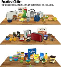 Sims 4 CC's - The Best: Breakfast Clutter by Sandy - Around the Sims You are in. - Sims 4 CC's – The Best: Breakfast Clutter by Sandy – Around the Sims You are in the right pl - Sims 4 Mods, Sims 4 Game Mods, Sims Four, Sims Cc, My Sims, The Sims 4 Bebes, Around The Sims 4, Sims 4 Kitchen, Muebles Sims 4 Cc