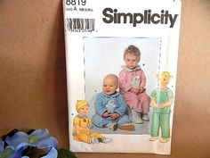Baby Clothes Sewing Pattern Uncut Simplicity by TKSPRINGTHINGS