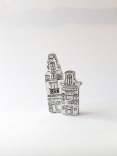 two house display magnets for a special discount, Amsterdam houses for collectors, handdrawn and sculpted miniature houses by gumcrackkids on Etsy https://www.etsy.com/listing/201737704/two-house-display-magnets-for-a-special