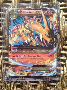 ULTRA RARE! Mega Charizard Ex Pokemon Card 13/106!