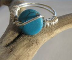 Sterling silver with turquoise ring