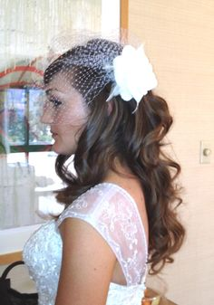 Bride w birdcage veil. Hair and Makeup by Lisa Leming   www.lisaleming,com