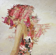 Hossam Dirar - Oil on Canvas Artist Names, Conceptual Art, Art Forms, Textile Art, Sculpture Art, Painting & Drawing, Printmaking, Lady In Red, Oil On Canvas