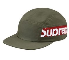 fcfeabcaf21 Supreme Side Panel Camp Cap White   Red Hat Hypebeasts One Size.