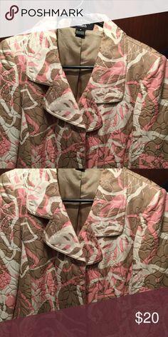 Ellen Tracy quilted tan and dusty rose Ellen Tracy quilted tan and dusty rose Ellen Tracy Jackets & Coats Blazers
