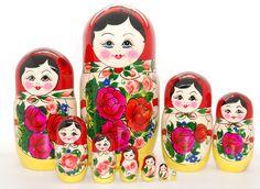 10 Authentic Russian  Nesting dolls Semenovskaya by artmatryoshka, $99.90