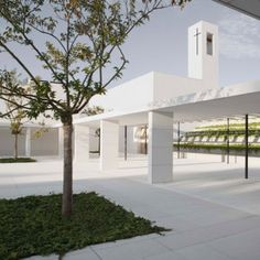 "Elsa+Urquijo's+campus+for+a+Spanish+charity++is+made+up+of+""serene""+white+buildings"