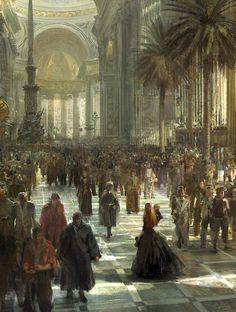 artists, balls, craig mullin, concept art, train stations, king arthur, court, paint, the artist