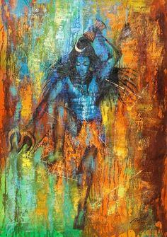 Buy shiv tandav by community artists group@ rs. - shop art paintings online in india. Mahakal Shiva, Shiva Art, Hindu Art, Krishna, Rudra Shiva, Buy Paintings Online, Online Painting, Art Paintings, Indian Paintings