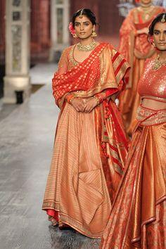 By designer Tarun Tahiliani. Bridelan - Personal shopper & style consultants for Indian/NRI weddings, website www.bridelan.com #TarunTahiliani #IndiaCoutureWeek2016 #weddinglehenga #Bridelan #BridelanIndia