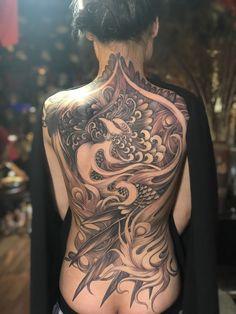 Tattoo Girls, Girl Tattoos, Tattoos For Women, Tatoos, Full Back Tattoos, Great Tattoos, Beautiful Tattoos, Yakuza Tattoo, Tattoo Ink