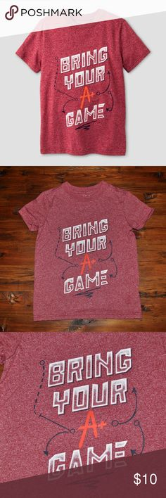 New CAT&JACK Boys A+ Game Graphic Short Sleeve Tee size XS (4/5) new without tags color: red  @cjrose25  More kids clothes in my posh closet. Bundle your likes for a discount & save on shipping. Cat & Jack Shirts & Tops Tees - Short Sleeve