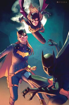"Batgirls by Pryce14.deviantart.com on @DeviantArt   ""The Batgirls: Barbara Gordon, Cassandra Cain, and Stephanie Brown"""