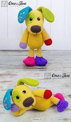 Scrappy the Happy Puppy Amigurumi PDF Crochet от oneandtwocompany