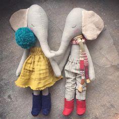 Two little elephants by peanutandelliott