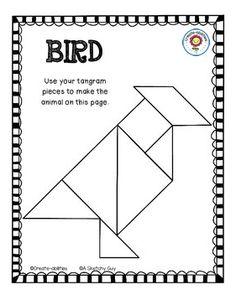 Tangrams Animal Shapes, Printable Download