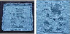 Kitty Love Knitted Washcloth [FREE Knitting Pattern]