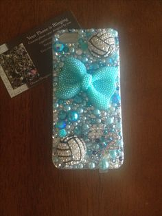 Volleyball teal custom phone case