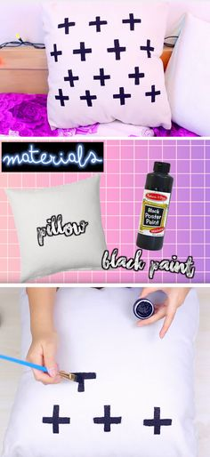 Plus Sign Pillow | 18 DIY Tumblr Dorm Room Ideas for Girls that you will want to recreate!