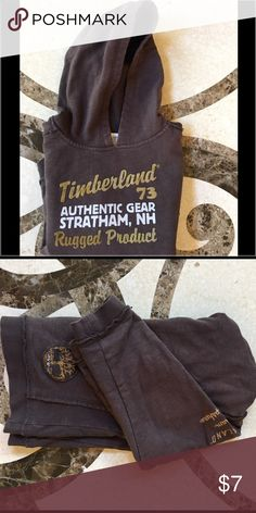 Timberland Hoodie Brown Hoodie with distressed seams | Good used condition | Bundle and save! Timberland Shirts & Tops Sweatshirts & Hoodies