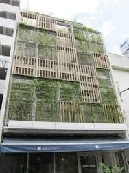 「glass screen timber curtain wall,green facade」の画像検索結果