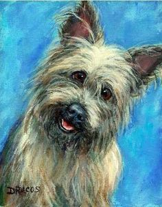 Cairn Terrier Dog Art 11x14 Print Painting by by DottieDracos