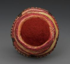 Annie Pennington 'Diatom Series: Epitheca.' Brooch. Copper, Steel, Wool, Polymer, Colored Pencil. 1-1/4in