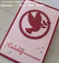 Januar - Kit °15 Confirmation Cards, First Holy Communion, Baby Cards, Christening, Cardmaking, Easter, Scrapbook, Invitations, Floki