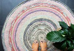 Coil + Crochet Scrap Fabric Rug DIY | My Poppet Makes