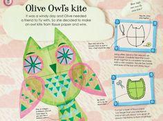 Owl Kite: http://www.redtedart.com/2013/02/19/creative-creatures-owl-kite-book-review/
