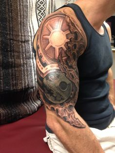 The Empire's Strong Arm is a cover up tattoo on Adam Ciesielski created by artist Alex Cajigas in Ft. Nerdy Tattoos, Star Tattoos, Tattoos For Guys, Cool Tattoos, Tatoos, Amazing Tattoos, Tattoo On, Piercing Tattoo, Piercings
