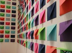 A wall of mini envelopes is my fave on http://www.youaremyfave.com